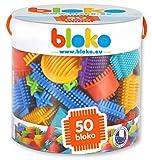 BLOKO – 503502 – Tube de 50 'BLOKO' – Dès 12 mois – Fabriqué en EUROPE – Jouet de construction