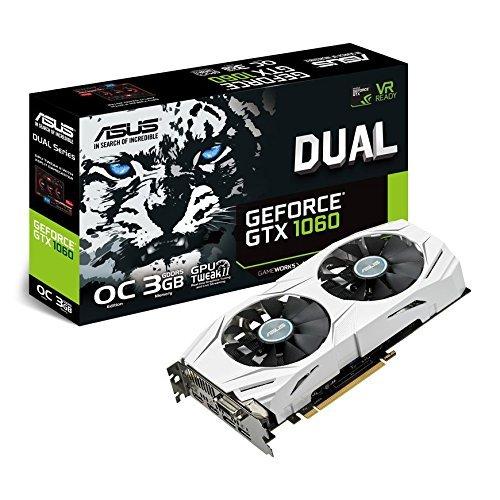 Asus DUAL-GTX1060-O3G Scheda Grafica OC Edition, Geforce GTX1060, 3 GB GDDR5, 4K
