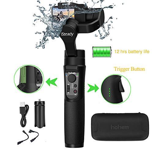 Hohem iSteady Pro 2 Gimbal per Gopro,Stabilizzatore per gopro,Compatibile per Fotocamera GoPro 7 6 5 4 3 3+, DJI osmo, Sony RX0, Yi Cam 4K, AEE, SJCAM, Splash Proof, 12 ore di lavoro, Auto Panorama
