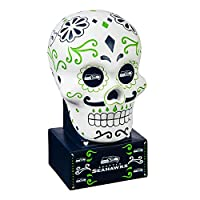 SUGAR SKULL STYLE: Celebrate your team pride with this beautiful statue in a Day of the Dead theme. The sugar skull statue features team colors and logos on a beautifully painted skull shaped statue. UNIQUE AND EASY DISPLAY: This is the perfect size ...