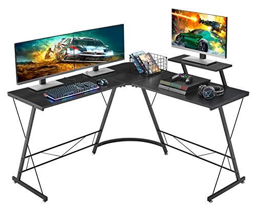Mr IRONSTONE L-Shaped Desk 50.8' Computer Corner Desk, Home Gaming...