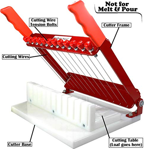 R.E.D. Soap Cutter - precisely and accurately cuts 11 x 1 Inch Bars - Made in the U.S.A.