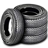 Set of 4 (FOUR) Transeagle ST Radial II Premium Trailer Radial Tires-ST205/75R15 205/75/15 205/75-15 111/106L Load Range E LRE 10-Ply BSW Black Side Wall