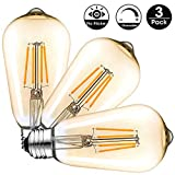 Ampoule LED Edison Vintage (6w Dimmable, 3-pack)