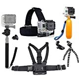 GoPro Accessoires Pack, Chef & Sangle Thoracique & Trépied & Main Jaune...