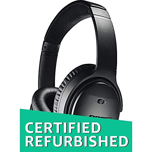 Bose QuietComfort 35 (Series I) Wireless Headphones, Noise Cancelling - Black (Renewed)
