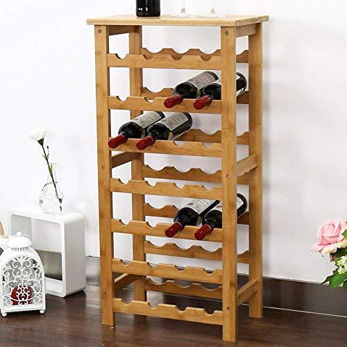 BAKAJI Cantinetta Porta Bottiglie Vino 28 Posti in Legno di bamb Portabottiglie Cantina Casa Bar...