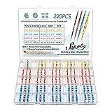220 PCS Joint de Soudure Connecteur de Fil, Sopoby Thermorétractables Souder...