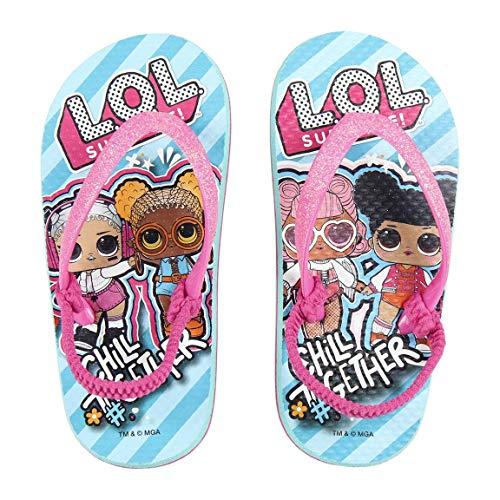 L O L Surprise! Sandali da Bambina Infradito, Design Leggeri e Glitterato, Giardino Piscina Spiaggia...