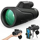 Gafild Monocular, 12 x 50 HD Monocular Impermeable monoculo telescopio portatil para Viajes de Caza,...