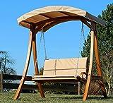 ASS Design Hollywoodschaukel Gartenschaukel Hollywood Schaukel aus Holz - 4