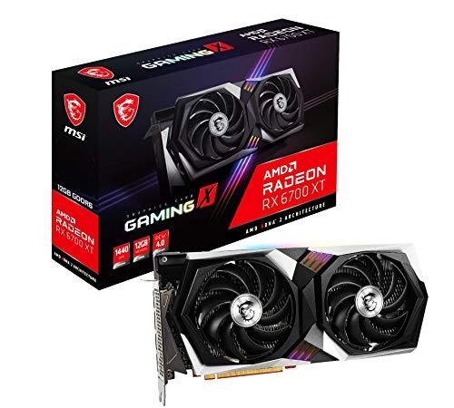 Tarjeta gráfica gaming MSI Radeon RX 6700 XT GAMING X 12G, 12 GB GDDR6, 192 bit, AMD RDNA 2, TWIN FROZR 8, TORX FAN 4.0, PCI Express Gen 4, DisplayPort v1.4a, HDMI 2.1, Zero Frozr, Raytracing