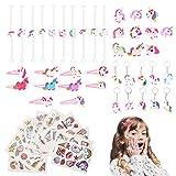 Colmanda Licorne Kit, 50pcs Licorne Fournitures de Fête Bracelets de...