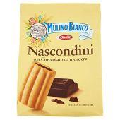 Mulino Bianco Biscotti Frollini Nascondini con Cioccolato, Colazione Ricca di Gusto - 600 gr