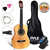 Beginner 30' Classical Acoustic Guitar  6 String Junior Linden Wood Traditional Guitar w/ Wooden Fretboard, Case Bag, Strap, Tuner, Nylon Strings, Picks, Great for Beginner, Children  Pyle PGACLS30