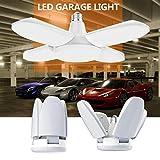 Gezee Éclairage de garage à LED,60W E27 6500K 6000Lm Lampe d'atelier...
