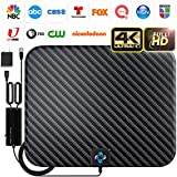U MUST HAVE Amplified HD Digital TV Antenna Long 250+ Miles Range - Support 4K 1080p and All TV's - Indoor Smart Switch Amplifier Signal Booster