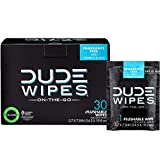 DUDE Wipes Flushable Wipes, Individually Wrapped for Travel, Unscented Wet Wipes with Vitamin-E and Aloe, Septic and Sewer Safe, 30 Count