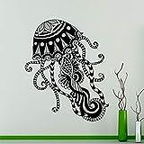 Patrón de medusas calcomanía de pared animal marino pegatina de vinilo mar decoración del hogar arte de la pared interior creativo pared de la habitación de moda decoración creativa A3 57x70cm