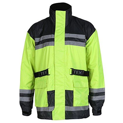 Texpeed - Motorrad-Regenjacke - Wasserdicht - Warnfarbe - 5XL - 137.16cm