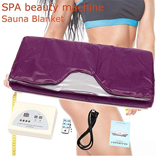 FTNJG Heat Sauna Slimming Blanket, 2 Zone Far Infrared Sauna Blanket with Safety Switch Used As Home Sauna for Reduce Weight Thin Body Home Beauty 4