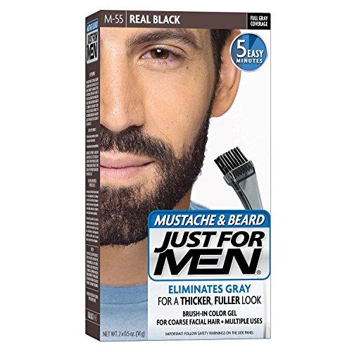 Just for Men gel colorante per barba e baffi M-55nero conf. da 1