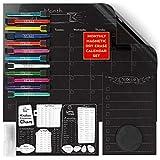Arteza Set Calendario Magnetico Planner per Frigorifero (43.4x33.3cm) - Nr. 3 Lavagna Bianca Dry Erase Riutilizzabile + 12 Pennarello Cancellabile + 2 Cancellino - Antimacchia - Forte Calamita Adesiva