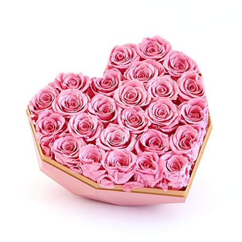 22 Rosas preservadas en Caja Regalo Corazón - Rosas eternas