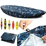 Waterproof Kayak Canoe Storage Cover,Dustproof Cockpit Cover,UV Sunblock Shield Protector for Fishing Boat,Rowing Shell,Paddle Board,Fit for 3.1-3.5m/9.3-10.5ft
