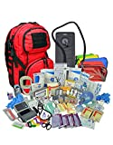 Lightning X Premium Stocked Tactical EMS/EMT Trauma First Aid Responder Medical Kit Backpack (Red w/Hydration...