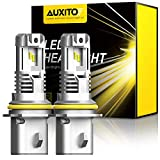 AUXITO 9007 LED Headlight Bulbs 12,000LM Per Set 6500K Xenon White Wireless HB5 High Low Beam Headlight (Hi/Lo), Pack of 2