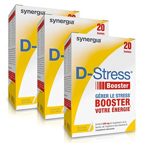 D-Stress Booster | Hoch assimiliertes Magnesium, Taurin, B-Vitamine | Herkunft Frankreich | 3er-Set + 1 Tube Acerola im Angebot