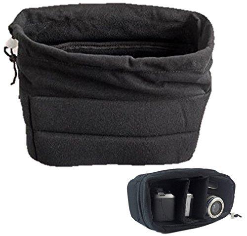 サイズが合えばどんな バッグ も カメラ バック に カメラ インナー ソフト クッション ボックス ブラック