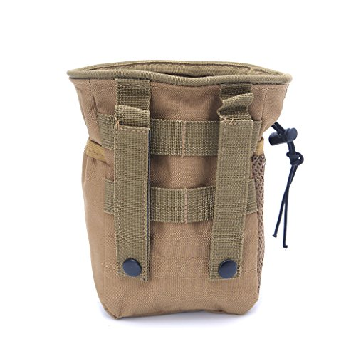 SimpleLife Outdooer Utility Pouch Bag Airsoft militare Molle Belt Tactical Dump Drop Bag