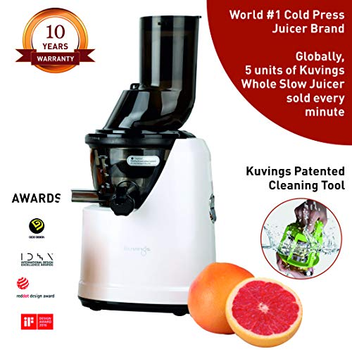 Kuvings Professional 240 Watt Cold Press Whole Slow Juicer (B1700) (Pearl White (Limited Edition))