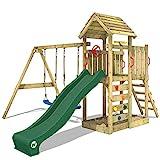 WICKEY Aire de jeux MultiFlyer Portique de jeux avec toit en bois pour jardin...
