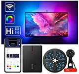 Govee LED TV Backlights, WiFi TV LED Strip Lights with Camera, Work with Alexa and Google Assistant, RGBIC TV Lighting with APP Control and Music Sync, for 55-65 inch TVs