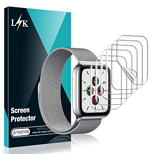 L K 6 Pezzi Pellicola Protettiva per Apple Watch 40mm Series 5/4, Proteggi Schermo e pellicole in TPU [Senza Bolle] [No Lifted Edges] [qualità Premium] HD Clear Pellicola