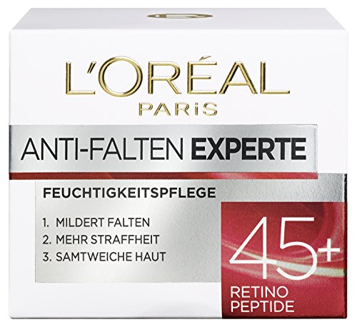 L\'Oréal Paris Gesichtscreme Anti-Falten Experte Feuchtigkeitspflege 45+, 1er Pack (1 x 50ml)