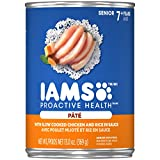 IAMS PROACTIVE HEALTH SENIOR Soft Wet Dog Food Paté With Slow Cooked Chicken and Rice, (12) 13.0 oz. Cans