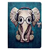 Bspring Housse Etui Cuir pour Samsung Galaxy Tab 3 10.1' Etui de Protection Pochette Stand Coque Samsung Galaxy Tab 3 10.1' P5200 / P5210 / P5220 / GT-P5210 Tablet Housse, Elephant