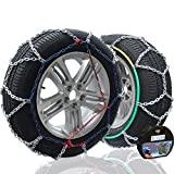Big Ant Snow Chain Anti-Skid Tire Snow Chains,Emergency Traction Car Snow Tyre Chains Universal for Light Truck/SUV Tire Chain Width 195mm-255mm/5.85-10.03- Set of 2