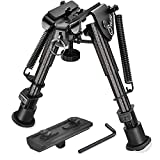 CVLIFE Carbon Fiber Rifle Bipod with M-lok Mount Adapter 6-9 Inches for Hunting and Shooting
