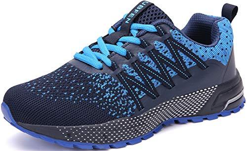 SOLLOMENSI Zapatillas de Deporte Hombres Mujer Running Zapatos para...