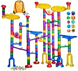 Meland Marble Run - 122Pcs Marble Maze Game Building Toy for Kid, Marble Track Race Set&STEM...