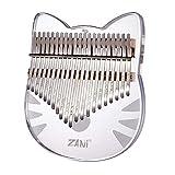 カリンバ 21キー 楽器 親指ピアノ kalimba C調 日本語の説明書 トトロ アクリル 透明 収納バッグ付き 初心者向け