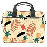 Bolso bandolera para portátil de 14,5 pulgadas, diseño de frutas, color champán, bolso de hombro, bolso de hombro para tablet de negocios para mujeres y hombres