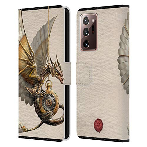 Head Case Designs Officially Licensed Anne Stokes Clockwork Dragon Steampunk Leather Book Wallet Case Cover Compatible With Galaxy Note20 Ultra / 5G (Electronics)