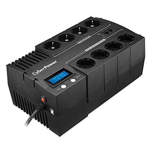 CYBERPOWER BR1200ELCD Line-Interactive USV 1200VA/720W GreenPower Energy Saving Technologie LCD USB 4+4 Schukoausgang