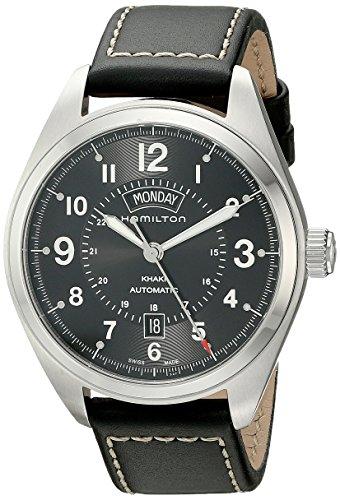 Hamilton Herren Analog Automatik Uhr mit Leder Armband H70505733